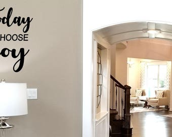 Today I choose Joy Wall Decal / Joy Wall Words / Positive Attitude Wall Decal / Inspirational Decal Sticker