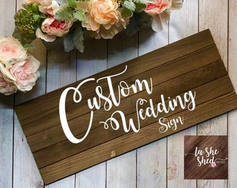 CUSTOM  Wedding/Marriage Sign - Last Name, Wedding Date - Custom Saying - Wedding - Marriage - Forever