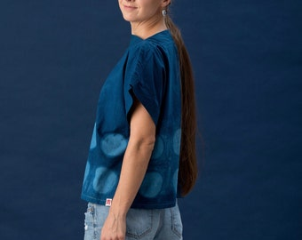 eight circles - boatneck blouse