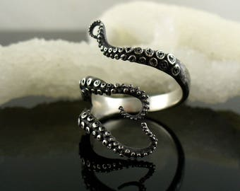 Wicked tentacle ring, Octopus ring, tentacle ring, OctopusME, wedding band, engagement ring, Cthulhu, steampunk, tentacles, bague, kraken,