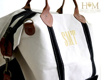 Sale! Monogrammed Weekender Bag - Monogram Black Weekender - Duffle Bag - Monogrammed Overnight Bag - Carry ON Bag - Bridal Gift