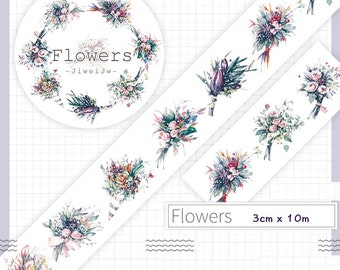 1 Roll of Limited Edition Washi Tape- Flower