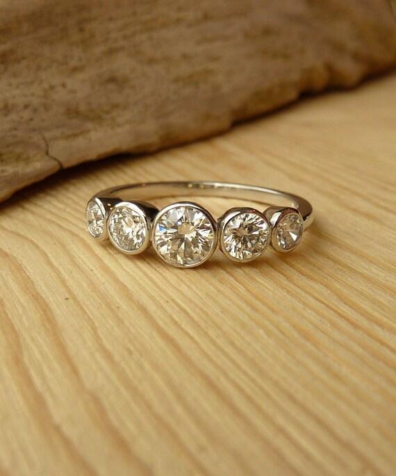 Bezel Diamond Necklace Australia