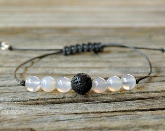 Diffuser Bracelet, Agate Bracelet, Beaded Diffuser, Essential Oils, Oil Diffuser, Yoga Bracelet, Meditation Bracelet, Healing Bracelet