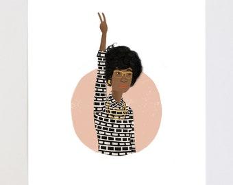 Shirley Chisholm Portrait Illustration Art Print
