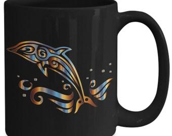 Tribal Dolphin Mug