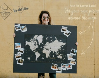World maps push pin maps and travel related by worldvibestudio push pin canvas photo board world map pin board canvas photo board map gumiabroncs Gallery