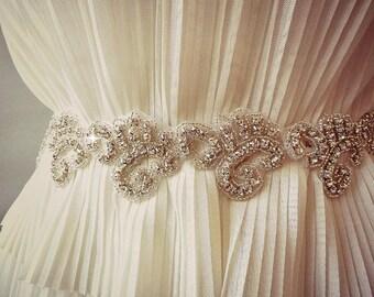 BRIDAL SASH , Wedding Sash ,wedding RHINESTONE sash , bridal rhinestone sash Bridal crystal belt, bridal belt ,jeweled sash belt