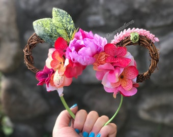 Mini ears | flower and garden Mickey ears| flower and garden ears|