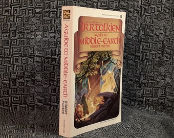 A Guide to Middle-Earth, Robert Foster paperback book, JRR Tolkien, The Hobbit, Lord Of The Rings, 1978