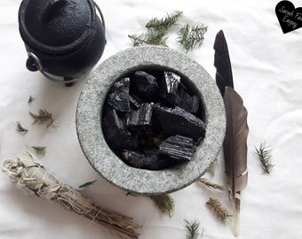 Raw Black Tourmaline Crystals and Stones   Natural Black Tourmaline Rods   Protection and Grounding   Witchcraft   Raw Crystals and Stones
