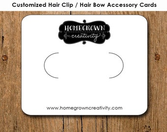 Customized Hair Clip Bow Barrette Pin Jewelry Display Cards Personalized Logo