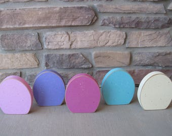 Free standing EGG SET of 5 for Easter and home decor