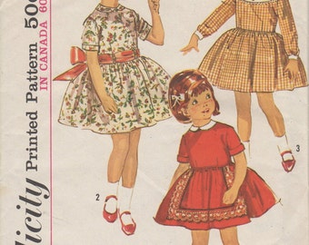 Sz 3-FACTORY FOLDED 1960's Child's Dress Simplicity 5137 Breast 22""