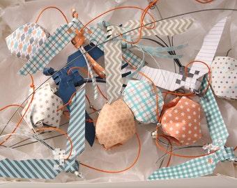 Mobile suspension birds origami paper - 1 school