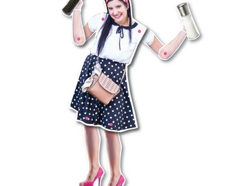 Moving personalized paper dolls - MY PAPER DOLLS /  awesome gift ideas / gift best friend
