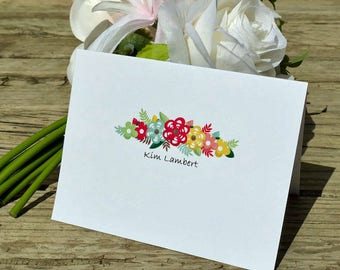 Personalized Cards, Blank, Thank you Card, Greeting Card
