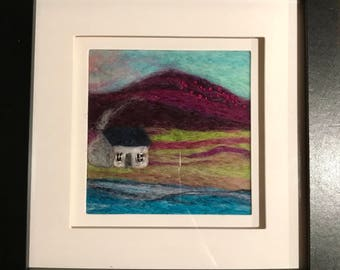 Needle Felted Wool Art - By the Sea