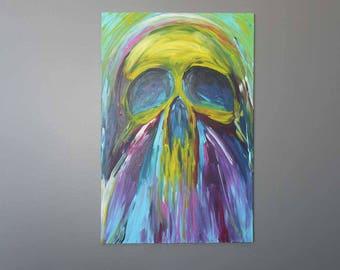 "Skully Dudesman 24""x36"" Original Acrylic Painting *SOLD*"