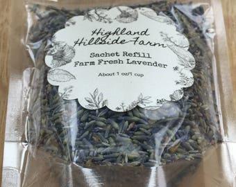 Organically Grown Lavender Sachet Refill - Aromatherapy