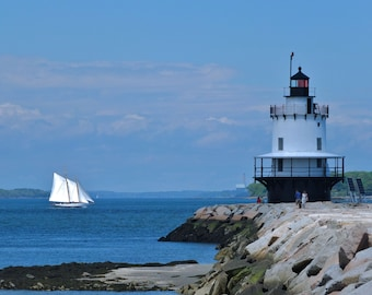 Spring Point Lighthouse in South Portland, Maine.