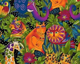 WILD ONES FLANNEL designed by Laurel Burch for Clothworks - bty - #Y2327-3