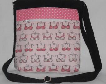 Pink Bra Crossbody Bag