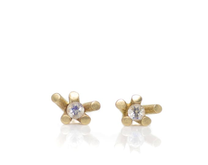 Sticks and Stones Moonstone Studs