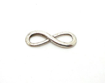 2 charms silver colored infinity sign