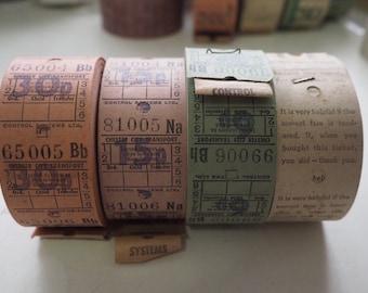 4 Rolls of vintage UK bus tickets