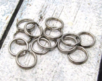 10mm Split Ring, Stainless Steel Split Rings, SST Findings 10mm, High Quality Split Rings, Stainless Steel Rings, Small Split Ring (094)