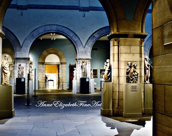 Night at the Museum - Metropolitan Museum - 8 x 10  Fine Art Photograph -Dorm Decor - Medieval- Sculptures-Gothic Art-Shadows-Moody-Hipster