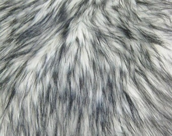 """Arctic Shaggy Faux Fur Fabric - WHITE - Sold By The Yard 60"""" Width"""