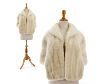 White Mink, Wedding fur, white fur shrug, white fur stole, wedding coat, wedding bolero, mink shrug, mink stole, capelet