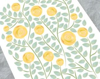 Wedding Guest book alternative - Yellow Roses