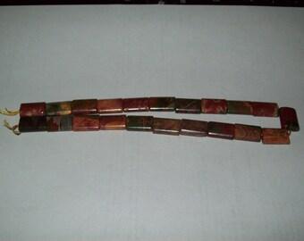 Red Creek Jasper Stone Beads- full strand