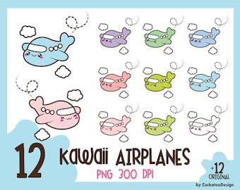 35% OFF, Airplane clip art, kawaii airplane clip art, airplane clipart, kawaii plane clipart, kawaii plane clip art, Commercial Use