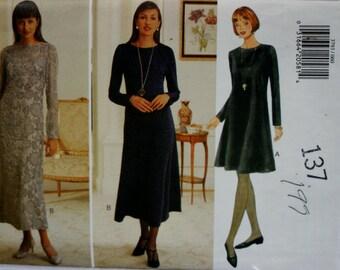 Butterick 3793 Misses' Dress Sewing Pattern New / Uncut Size 6, 8,10, 12