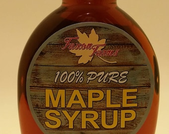 Pure Maple Syrup - Faxon Farms - 12 oz Glass (Grade A Amber)