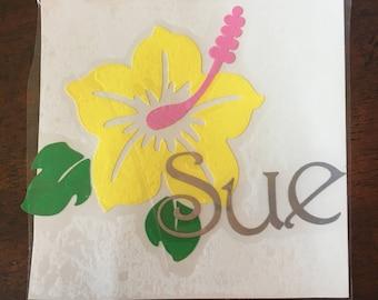 Hawaiian Flower Name Monogram