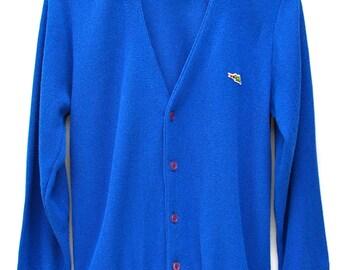 Men's Royal Blue Golf Cardigan