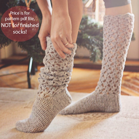 Crochet Pattern For Socks Christmas Morning Socks From