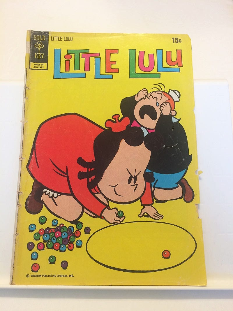Little Lulu Comic Book Blythe Doll Comicstrip Marbles Cover