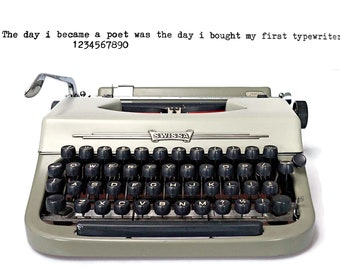 1960s Vintage Typewriter - Swissa Junior. A Portable Manual Typewriter from the 1960s in Good Working Condition