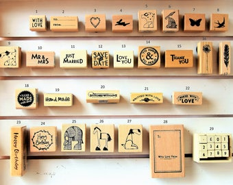 Rubber Stamps for Ink Stamping by East of India - Gift Tags, Card Making, Craft
