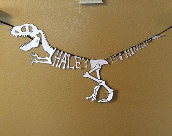 Dinosaur Bones Name Banner