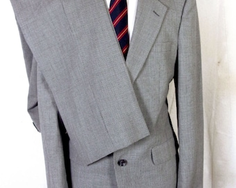 NWOT Boyd's Threadneedle Street Gray Fine Houndstooth 100% Wool 2 Pc Suit 40 L