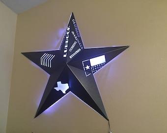 Custom Illuminated 3D Star