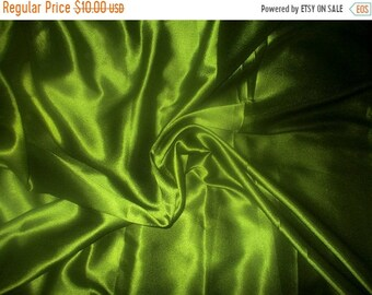 15% (TYFYP Sale) One yard of olive Poly Silk Satin fabric