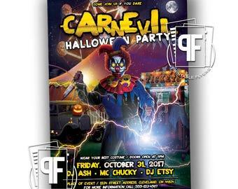 Halloween Party Invitation - Adult Halloween Party Invitation - Halloween Party Invites - Halloween Party Invitations